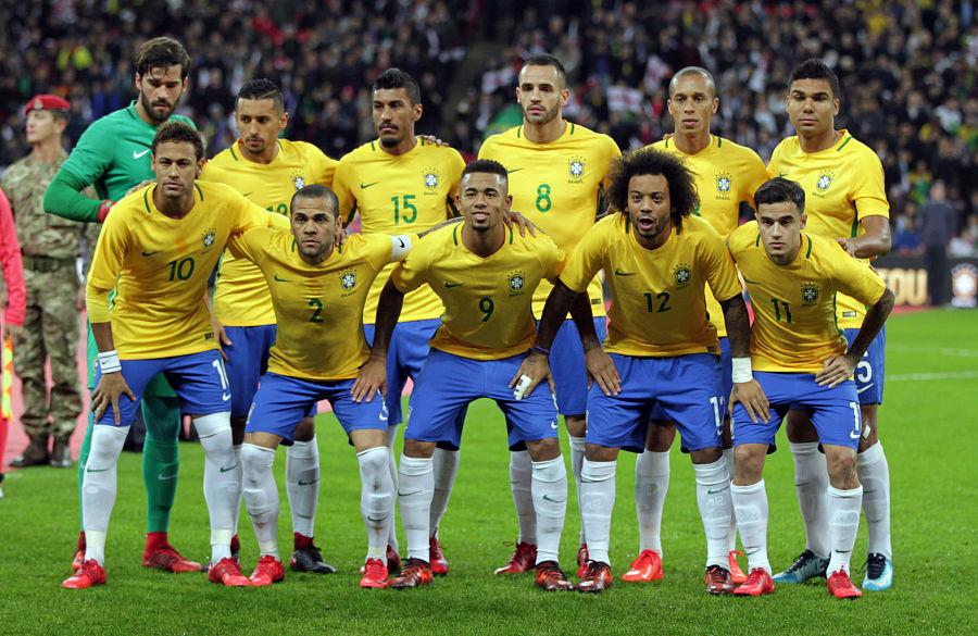 Fotbalové dresy Brazílie MS 2018